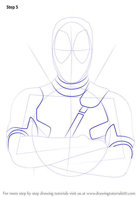 V Drawing Tutorial by Learn How To Draw Deadpool Deadpool Step By Step