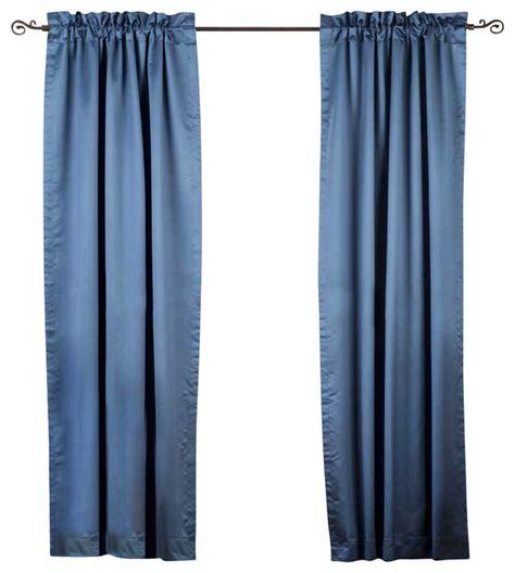 90 blackout curtains blue rod pocket 90 blackout curtain drape panel 80w