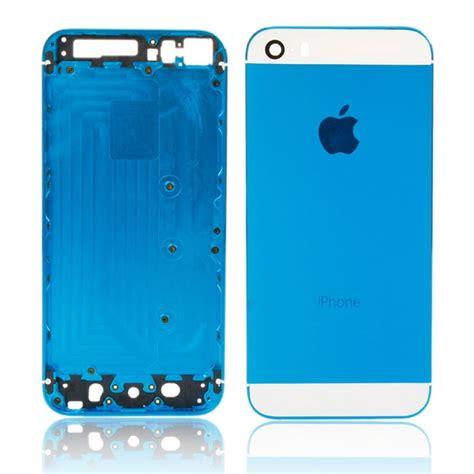 Iphone 5s Original Casing Housing Fullset Back Cover Backdoor 2 set color back cover housing w logo for iphone 5s white light blue tmart