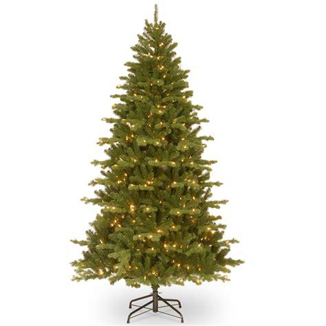 feel real alaskan spruce tree national tree company 7 5ft quot feel real quot spruce hinged tree with clear lights