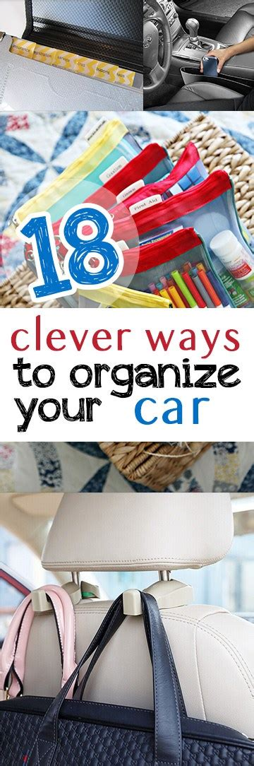 10 clever and easy ways to organize your 18 clever ways to organize your car picky stitch