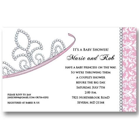 princess baby shower invitation templates free baby shower princess invitations gangcraft net