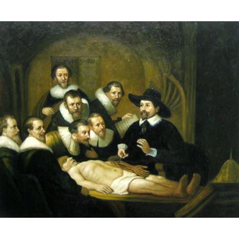 la leccin de anatoma la lecci 243 n de anatom 237 a del doctor tulp de rembrandt artefamoso copias de cuadros de