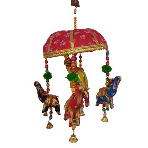 buy rajasthani handmade decorative tokri elephant jhumar