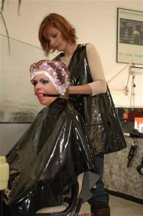 plastic sissy salon punishment forced rollerset hairsalon pics pinterest to be