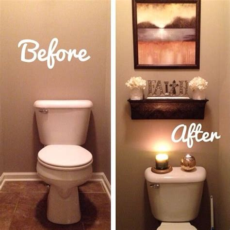 Decorating Ideas For The Bathroom by Before And After Bathroom Apartment Bathroom Great