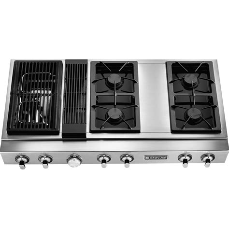 gas cooktops with built in downdraft jenn air jgd8348cdp pro style 174 48 quot modular gas downdraft