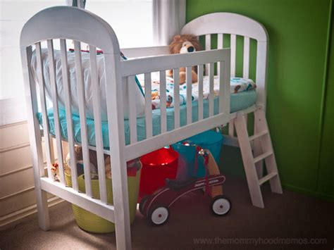 How To Change Crib Into Toddler Bed Transform Your Crib Into A Loft Toddler Bed Simple Budget Diy