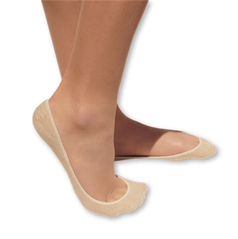 beige no show socks for pack of 4 barely there