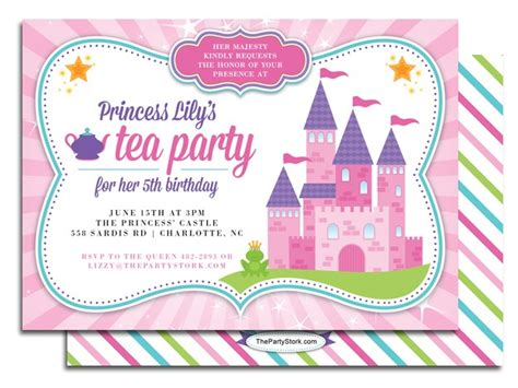 free princess tea invitation template free printable princess tea invitation