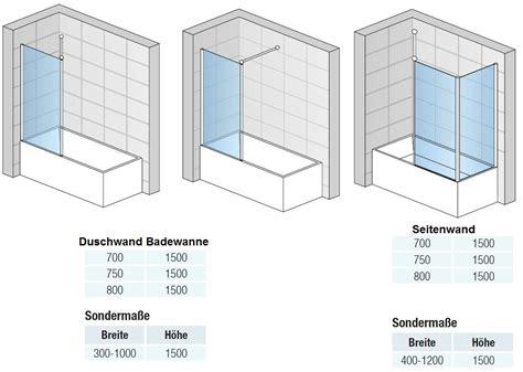duschabtrennung feststehend badewannenaufsatz mit seitenwand duschwand feststehend 1
