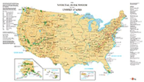map us national park system wall maps for the outdoors
