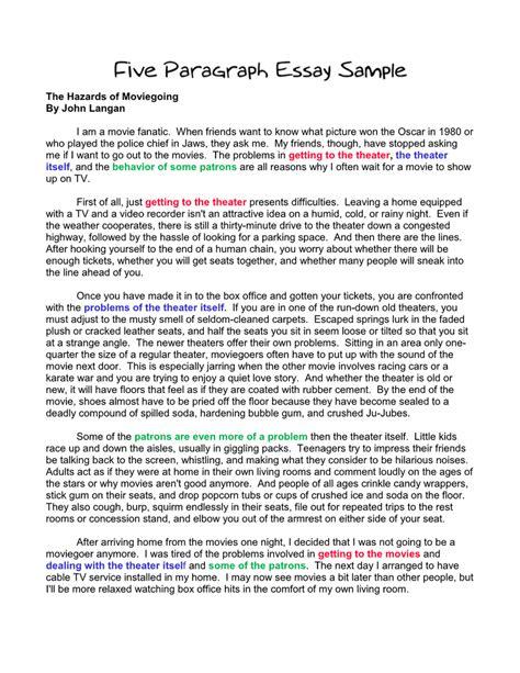5 Paragraph Sle Essay format of a 5 paragraph essay