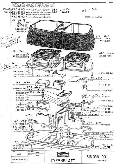 bmw motorcycle parts diagram bmw 1984 k100 motometer parts diagram