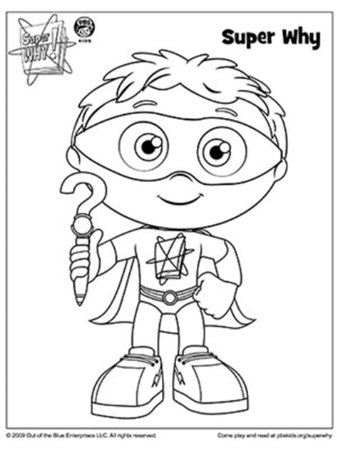 pin super why coloring pages on pinterest