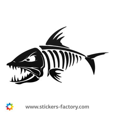 Stiker Captain Americasticker Boddy Mobil Stiker Cutting stickers factory decal skeleton fish bones 06160 flickr