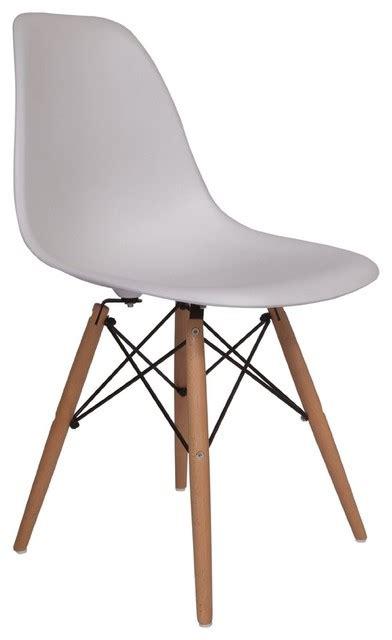 lemoderno molded plastic side chair wood leg base white shell  lemoderno reviews houzz