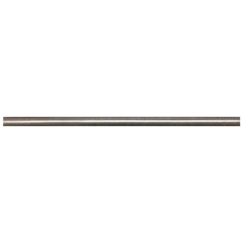 shop somerset collection bright nickel cast metal pencil liner tile common 1 2 in x 12 in