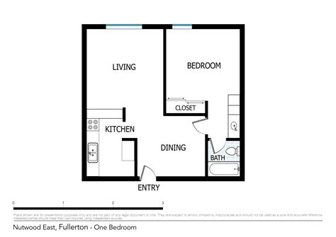 1 Room Studio Apartment Floor Plan - 1 bedroom apartments floor plans