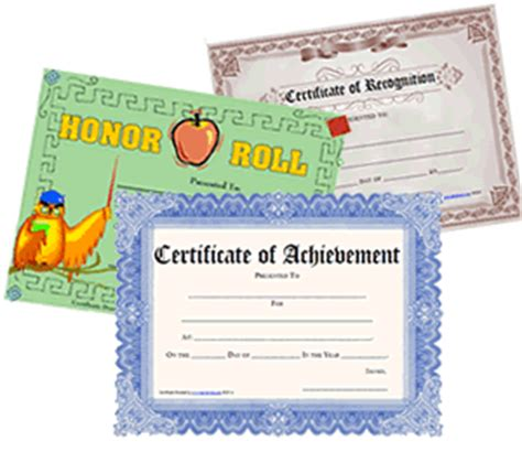 free printable certificates blank awards certificate