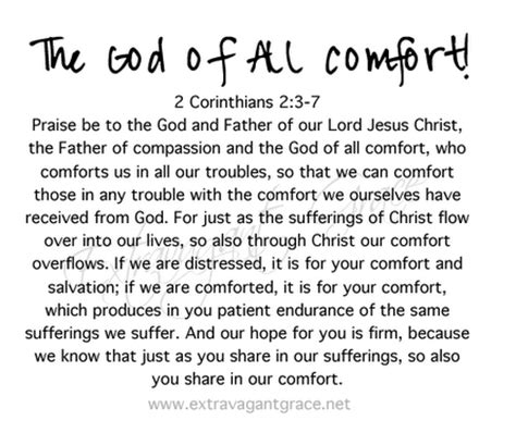 the comfort of god heart choices september 2010