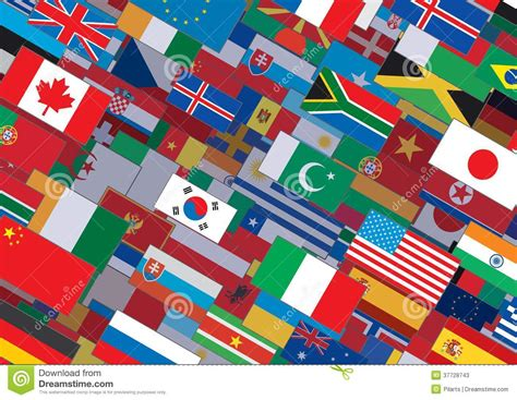 flags of the world design world flag background ready for your text design stock