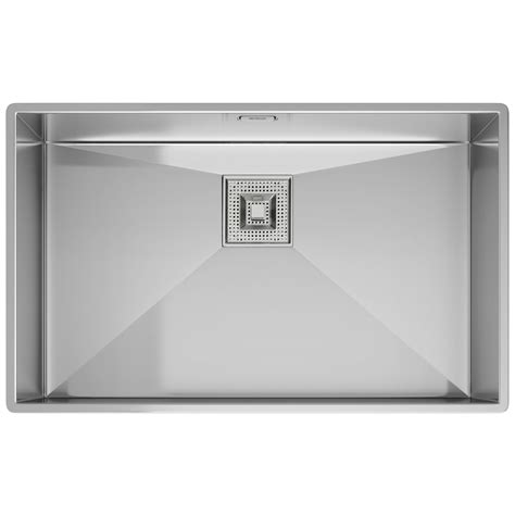 franke stainless steel sinks undermount franke peak pkx 110 70 stainless steel 1 0 bowl undermount