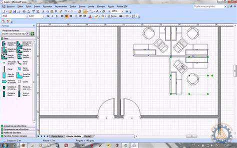 software para desenhar plantas ms visio aula 2 2 como criar uma planta baixa de layout