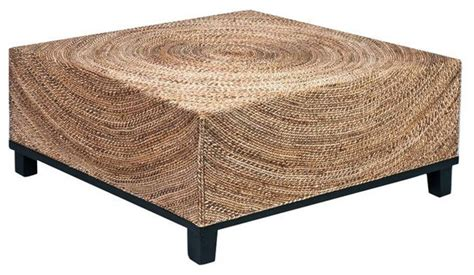 sold out fluid woven abaca square cocktail table 598