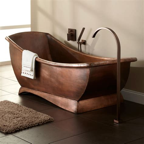 Used Clawfoot Bathtub 67 Quot Catania Smooth Copper Freestanding Tub Bathroom