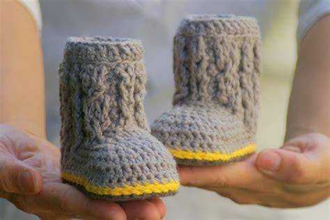 crochet patterns for baby booties baby booties crochet pattern for cable boots pattern number