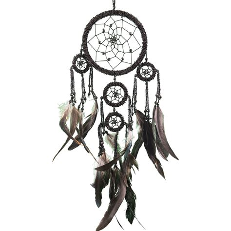 Decorate Home Online by Large Black Beaded Dream Catcher