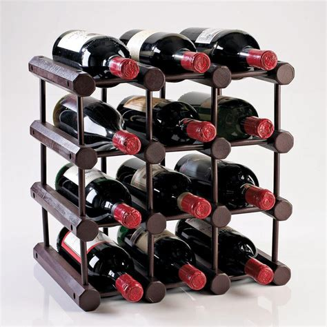 Wine Rack Home Depot by Wine Enthusiast Modular 12 Bottle Wine Rack In Mahogany