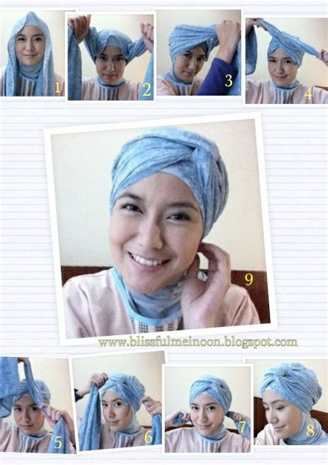 tutorial hijab turban hari raya 139 best ideas about my doek styles on pinterest head
