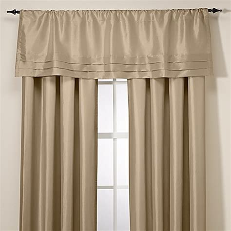 argentina curtains bed bath and beyond buy argentina tailored valance in linen from bed bath beyond