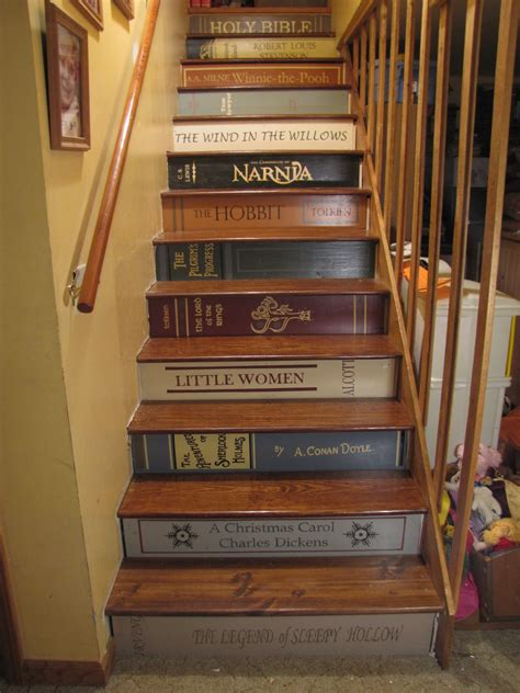 musing from an imperfect of 12 bookshelf stairs