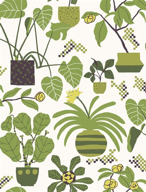 botanical print wallpaper marimekko botanical wallpaper illustration design