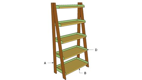Ladder Shelfs by Ladder Shelves Plans Howtospecialist How To Build