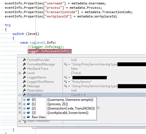 layout nlog c nlog event context item xxxx not writing in