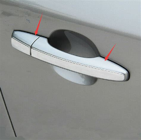 pcs stainless car door handle decorate coverno key holefor volvo  sl  ebay