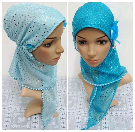 beautiful muslim islamic scarf with flower 2015