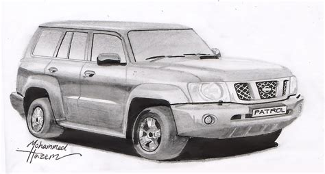 nissan drawing speed drawing of 2008 nissan patrol by mohammed hazem