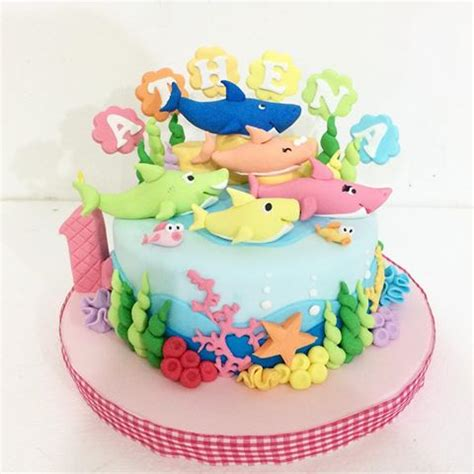 baby shark bday cake delightfully cake by vereen delightfullycake