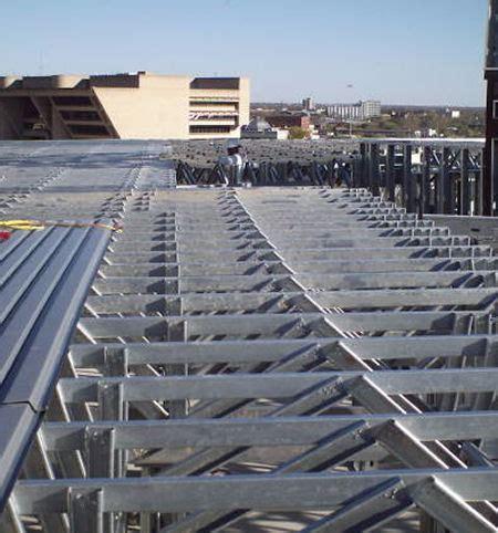 light gauge steel deck framing roof used roof trusses