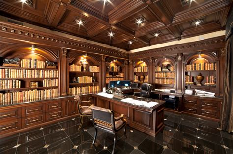 Large Luxurious Home Office   Traditional   Home Office