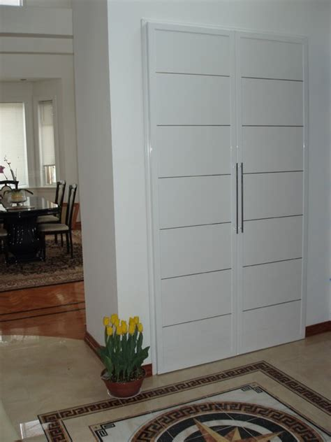Modern Coat Closet by High End Exterior Interior Doors Ny Modern