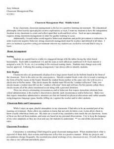 2011 2012 classroom management plan