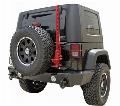 Jeep Jk Performance Rage Heavy Duty Rear Recovery Bumper Textured Black 07