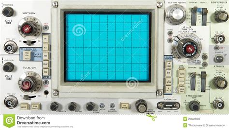 electronic oscilloscope faceplate technology royalty