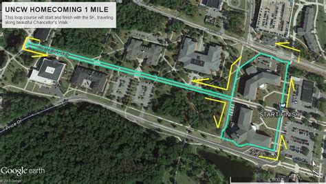 To 1 Mile by Uncw College Of Arts And Sciences Homecoming 5k February